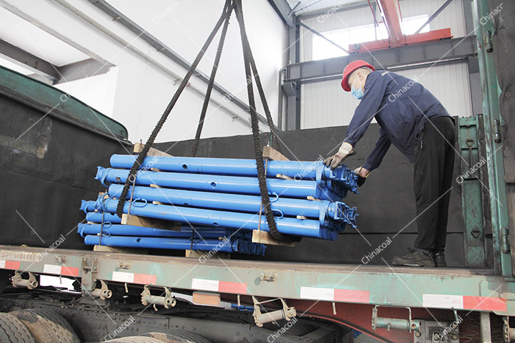 China Coal Group Sent Two Trucks Of Mine Single Hydraulic Props To Shanxi